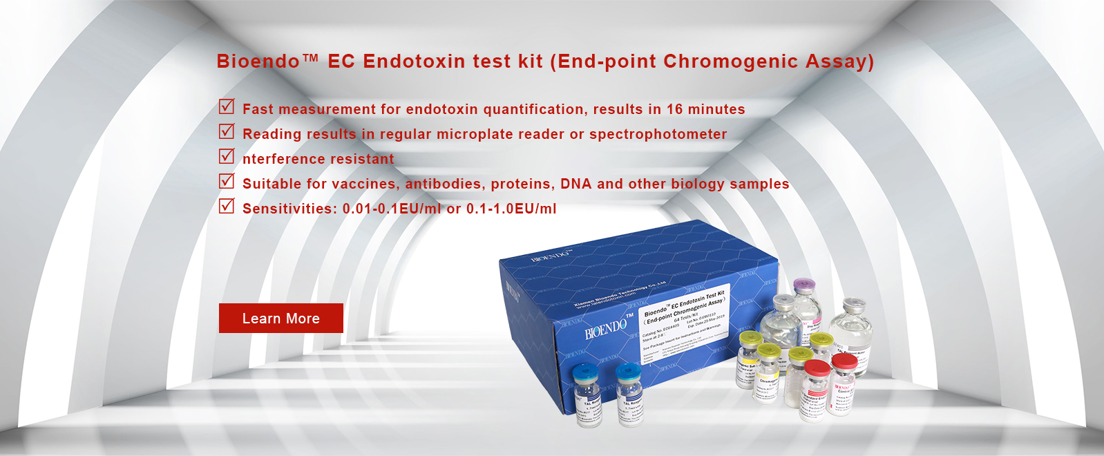 End-Point Chromogenic Endotoxin Test LAL Kit With Diazo Reagent